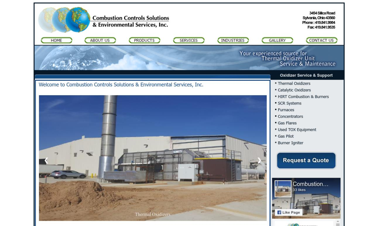 Combustion Controls Solutions & Environmental Services, Inc.