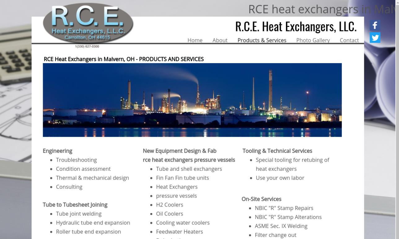 R.C.E. Heat Exchangers, LLC